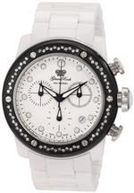 グラムロック 時計 Glam Rock Womens GR50119D Aqua Rock Chronograph Diamond Accented White Dial