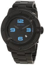 グラムロック 時計 Glam Rock Mens GR33005 SoBe Black Dial Black Ion-Plated Stainless Steel Watch