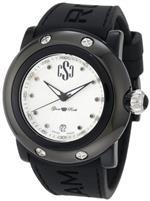 グラムロック 時計 Glam Rock Womens GRD60003/NCR Miami Beach Silver Textured Dial Black Silicone