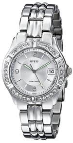 ゲス 時計 GUESS Womens G75511M Mid-Size Sporty Chic Silver-Tone Watch