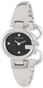 グッチ 時計 Gucci Womens YA134505 Guccissima Fashion Bangle Black Diamond Marker Dial Watch<img class='new_mark_img2' src='https://img.shop-pro.jp/img/new/icons5.gif' style='border:none;display:inline;margin:0px;padding:0px;width:auto;' />