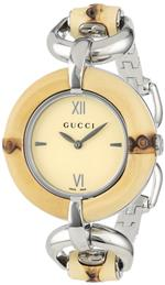 グッチ 時計 Gucci Womens YA132404 Bamboo Special Edition Gucci Iconic Design Natural Bamboo Watch
