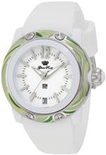 グラムロック 時計 Glam Rock Womens GRD40085-NBR Miss Miami Beach White Dial White Silicone Watch