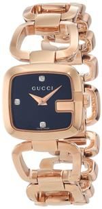 グッチ 時計 Gucci Womens YA125512 G-Gucci Black Sun Brushed Dial with Diamonds Watch