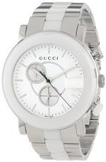 グッチ 時計 Gucci Womens YA101345 G Chrono White Matte Painted Dial Watch