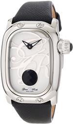 グラムロック 時計 Glam Rock Womens GR72035 Monogram Black Leather Watch