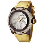 グラムロック 時計 Glam Rock Womens GR80018 Miami Collection Diamond Accented Gold Leather Watch