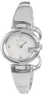 グッチ 時計 Gucci Womens YA134504 Guccissima Fashion Bangle Mother-Of-Pearl Dial Watch