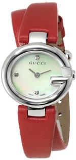 <img class='new_mark_img1' src='https://img.shop-pro.jp/img/new/icons38.gif' style='border:none;display:inline;margin:0px;padding:0px;width:auto;' />グッチ 時計 Gucci Womens YA134508 Guccissima Analog Display Swiss Quartz Red Watch