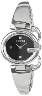 グッチ 時計 Gucci Womens YA134501 Guccissima Fashion Bangle Black Dial Watch