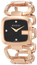 <img class='new_mark_img1' src='https://img.shop-pro.jp/img/new/icons14.gif' style='border:none;display:inline;margin:0px;padding:0px;width:auto;' />グッチ 時計 Gucci Womens YA125409 G-Gucci Black Sun Brushed Dial with Diamonds Watch