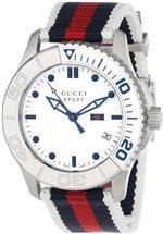 グッチ 時計 Gucci Unisex YA126239 G Timeless Blue Red blue Web design on the strap Sport Watch