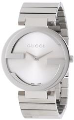 グッチ 時計 Gucci Womens YA133308 Interlocking Iconic Bezel Silver Dial Watch