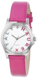 ハウレックスイタリア 時計 Haurex Italy Womens 6A505DPP Diamond-Accented Mini City Pink Leather