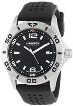 ハウレックスイタリア 時計 Haurex Italy Factor Steel Rotating Bezel Luminous Date Mens Watch 3A500UNN
