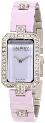 ハウレックスイタリア 時計 Haurex Womens XS357DL1 Lilac Crystal Watch