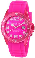 ハウレックスイタリア 時計 Haurex Italy Womens 1K374DP2 Ink Hot Pink Rubber Band Aluminum Watch<img class='new_mark_img2' src='https://img.shop-pro.jp/img/new/icons1.gif' style='border:none;display:inline;margin:0px;padding:0px;width:auto;' />