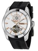 ハウレックスイタリア 時計 Haurex Italy Mens CA356USH Magister Automatic White Dial Watch