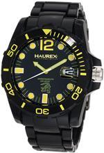ハウレックスイタリア 時計 Haurex Italy Mens N7354UNY Caimano Date Black Dial Plastic Sport Watch