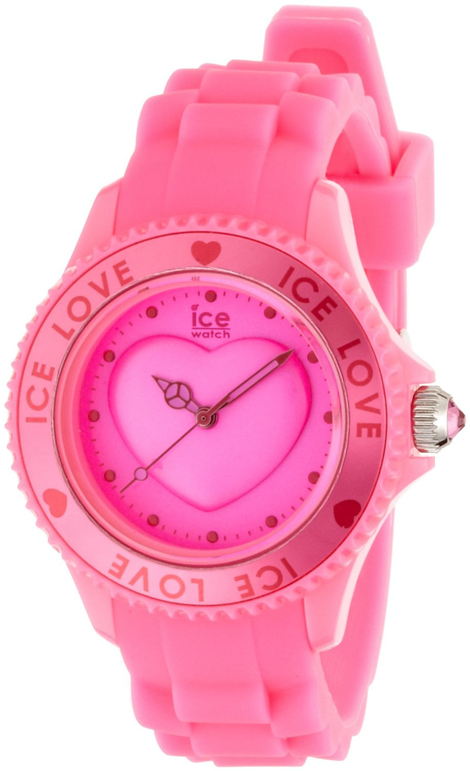 buy online 254fd 8a331 アイス 時計 Ice-Watch Ice-Love Silicone Strap Pink Dial Womens watch  #LO.PK.S.S.10 - 輸入時計専門店 ショップ タイムズ 通販