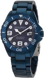 <img class='new_mark_img1' src='https://img.shop-pro.jp/img/new/icons18.gif' style='border:none;display:inline;margin:0px;padding:0px;width:auto;' />ハウレックスイタリア 時計 Haurex Italy Mens 7K374UB2 Ink Aqua Aluminum Bracelet Date Watch