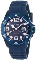 ハウレックスイタリア 時計 Haurex Italy Womens 1K374DB2 Ink Rubber Band Aluminum Blue Dial Watch