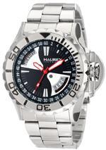 ハウレックスイタリア 時計 Haurex Italy Mens 7D365UNR Black Sea Day and Date Minute Track Steel