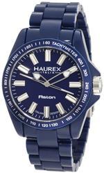 ハウレックスイタリア 時計 Haurex Italy Mens B7366UB1 Aston Blue Watch