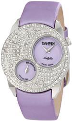 ハウレックスイタリア 時計 Haurex Italy Womens FS359DL1 Nabylia Swarovski Lilac Satin Watch