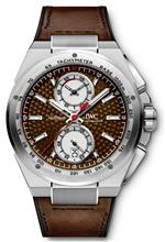 アイダブルシー 時計 IWC Ingenieur Silver Dial Leather Strap Automatic Mens Chrono Watch IW378505