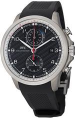 アイダブルシー 時計 IWC Portuguese Yacht Club Automatic Chronograph Black Dial Mens Watch 3902-12