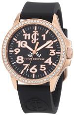 ジューシークチュール 時計 Juicy Couture Womens 1900964 Jetsetter Black Silicone Strap Watch
