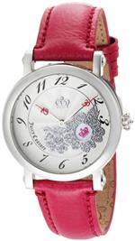 ジューシークチュール 時計 Juicy Couture Womens 1900668 Rotating Disc Pink Patent Leather Strap Watch