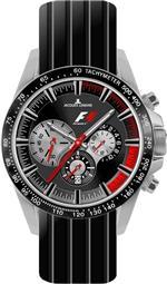 ジャックルマン 時計 Mens Formula 1 Race Chronograph Black Rubber