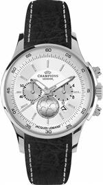 ジャックルマン 時計 Jacques Lemans UEFA U-32B1 42mm Stainless Steel Case Leather Mineral Mens Watch