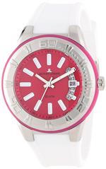ジャックルマン 時計 Jacques Lemans Mens 1-1785E Miami Sport Analog White Silicone Strap Watch