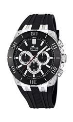 ロータス 時計 Lotus R Mens Quartz Watch with Black Dial Chronograph Display and Black Rubber Strap<img class='new_mark_img2' src='https://img.shop-pro.jp/img/new/icons11.gif' style='border:none;display:inline;margin:0px;padding:0px;width:auto;' />