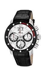 ロータス 時計 Lotus Mens Quartz Watch with White Dial Chronograph Display and Black Leather Strap<img class='new_mark_img2' src='https://img.shop-pro.jp/img/new/icons19.gif' style='border:none;display:inline;margin:0px;padding:0px;width:auto;' />