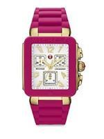 ミッシェル 時計 MICHELE Womens MWW06L000021 Park Jelly Bean Analog Display Swiss Quartz Pink Watch