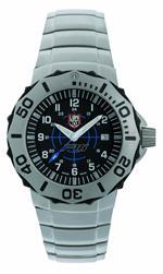 ルミノックス 時計 Luminox Mens A.9104 F-16 Time Date Stainless Steel Watch