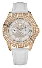 マークエコー 時計 Marc Ecko Mens E16577G1 Rose-Gold Leather Watch