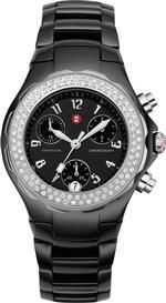 <img class='new_mark_img1' src='https://img.shop-pro.jp/img/new/icons23.gif' style='border:none;display:inline;margin:0px;padding:0px;width:auto;' />ミッシェル 時計 Michele Womans MWW12A000005 Tahitian Ceramic Black Diamond Watch