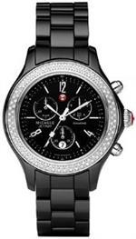 <img class='new_mark_img1' src='https://img.shop-pro.jp/img/new/icons10.gif' style='border:none;display:inline;margin:0px;padding:0px;width:auto;' />ミッシェル 時計 Michele Womens MWW17B000009 Jetway Black Ceramic Silver Diamond Chornograph Watch