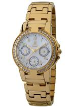 モメンタス 時計 Momentus Gold Stainless Steel Swarovski Crystals Womens Watch TC107G-09SD