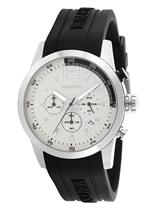 モメンタス 時計 Momentus Stainless Steel Dark Gray Rubber White Chrono Mens Watch FS312S-02RB