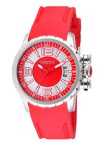 モメンタス 時計 Momentus Stainless Steel Red Rubber Band White Dial Womens Watch TR108K-02RB