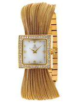 モメンタス 時計 Momentus Gold Stainless White Dial Zirconium Crystals Womens Watch FJ164G-09SD