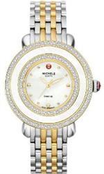 ミッシェル 時計 Michele Cloette Diamond MOP Dial Two-tone Stainless Steel Ladies Watch MWW20E000006