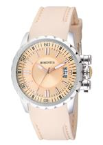 モメンタス 時計 Momentus Stainless Steel Beige Rubber Band Beige Dial Womens Watch TR108S-08RB