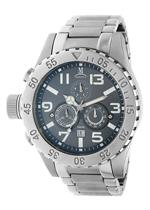 モメンタス 時計 Momentus Stainless Steel Gray Dial Chronograph Mens Watch TM246S-05SS